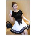 เดรสแฟชั่นสวยใส สไตล์สาวเกาหลี กับสีทูโทนขาวดำ - S
