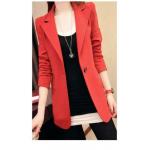 เสื้อสูททรงยาว หรูหรา น่าหลงใหล เหนือระดับ ด้วยสูททรงเข้ารูป - แดง L