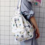 *Pre Order*Campus Bag กระเป๋าเป้นักเรียนญี่ปุ่น ผ้าใบสีหวาน/39x29x13 cm.