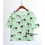 เสื้อผ้าแฟชั่น ลายโดนๆ สีสันสวยงาม ผ้านิ่ม ใส่สบาย มีให้เลือกจุใจ - เขียวอ่อน