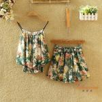 ชุดเซทผ้าชีฟอง ลวดลายดอกไม้สวยๆ - ลาย4