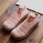 *Pre Order*รองเท้าหนังนิ่ม-แฟชั่นสไตล์ญี่ปุ่น size 35-40 สีเบจ/ดำ/ขาว