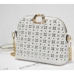 กระเป๋าหนังแฟชั่น ฉลุลายสวยๆ ดูหรูหรา น่าใช้งาน - ขาว