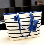 กระเป๋าแฟชั่นเกาหลี หนังนุ่ม สีสวย มีให้เลือกหลากสี ตามไสตล์คุณ - น้ำเงิน