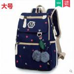 กระเป๋าเป้แฟชั่น ลายน่ารักๆ มีช่องใส่ของด้านหน้า สะดวก เหมาะกับทุกการใช้งานจริงๆ - ลาย 985 น้ำเงิน