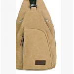กระเป๋าสะพายใบเท่ห์ ขนาดกำลังดี สำหรับสุภาพบุรุษทั้งหลาย มีให้เลือก 5 สี 2 ขนาด - กากี ใหญ่