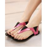 รองเท้าแตะแฟชั่น มีสายรัดข้อเท้า สีสันทูโทนตัดกันแบบลงตัว โดดเด่นสะดุดตา - 39