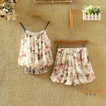 ชุดเซทผ้าชีฟอง ลวดลายดอกไม้สวยๆ - ลาย7