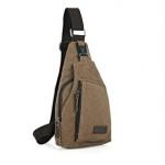 กระเป๋าสะพายใบเท่ห์ ขนาดกำลังดี สำหรับสุภาพบุรุษทั้งหลาย มีให้เลือก 5 สี 2 ขนาด - น้ำตาล เล็ก