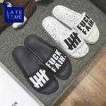 *Pre Order*LATE TIME รองเท้าแตะแฟชั่นชาย/หญิง สไตล์เกาหลี size 36-44