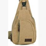 กระเป๋าสะพายใบเท่ห์ ขนาดกำลังดี สำหรับสุภาพบุรุษทั้งหลาย มีให้เลือก 5 สี 2 ขนาด - กากี เล็ก