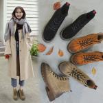*Pre Order*Martin boots รองเท้าบู๊ทส์หนัง-แฟชั่นสไตล์เกาหลี size 35-39 สีดำ/น้ำตาล/กากี