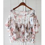 เสื้อแฟชั่นลายดอกไม้สวยๆ ซีทรูบางๆ สวยกำลังดี มี 3 สี ให้เลือกคร๊าา - อัลมอนด์