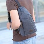 กระเป๋าสะพายใบเท่ห์ ขนาดกำลังดี สำหรับสุภาพบุรุษทั้งหลาย มีให้เลือก 5 สี 2 ขนาด - ดำ ใหญ่