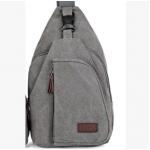 กระเป๋าสะพายใบเท่ห์ ขนาดกำลังดี สำหรับสุภาพบุรุษทั้งหลาย มีให้เลือก 5 สี 2 ขนาด - เทา ใหญ่