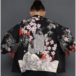 *Pre Order*แฟชั่นชาย,Cardigan กิโมโนญี่ปุ่น,แขนสี่ส่วน ผ้าฝ้ายพิมพ์ลาย size L,XL,2XL