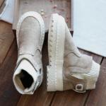 *Pre Order*Martin boots รองเท้าบู๊ทส์หนัง-แฟชั่นสไตล์เกาหลี size 35-40 สีดำ/น้ำตาล