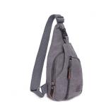 กระเป๋าสะพายใบเท่ห์ ขนาดกำลังดี สำหรับสุภาพบุรุษทั้งหลาย มีให้เลือก 5 สี 2 ขนาด - เทา เล็ก