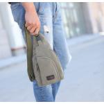 กระเป๋าสะพายใบเท่ห์ ขนาดกำลังดี สำหรับสุภาพบุรุษทั้งหลาย มีให้เลือก 5 สี 2 ขนาด - เขียว เล็ก