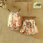 ชุดเซทผ้าชีฟอง ลวดลายดอกไม้สวยๆ - ลาย2