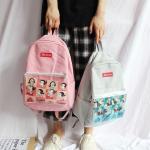 *Pre Order*Campus Bag กระเป๋าเป้นักเรียนญี่ปุ่น ผ้าใบสีหวาน/39x28x12 cm.