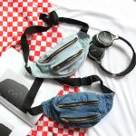 *Pre Order*Campus Bag กระเป๋าคาดเอวแฟชั่นญี่ปุ่น ผ้ายีนส์/16x25 cm.