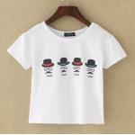 collection เสื้อยืดพื้นขาว สกรีนลายนิดๆ ดูสบายตา set 3 - ลาย 12
