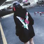 เสื้อกันหนาวแฟชั่นสไตล์เกาหลี ลายสวยเด่น ผ้าอุ่น น่าสวมใส่ - ดำ