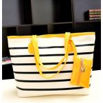 กระเป๋าแฟชั่นเกาหลี หนังนุ่ม สีสวย มีให้เลือกหลากสี ตามไสตล์คุณ - เหลือง