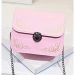 กระเป๋าสะพายข้างทรงนิยม สีสัน มีให้เลือกใช้ได้กับทุกงาน - ชมพู