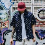 *Pre Order*เสื้อเชิ้ตผู้ชายญี่ปุ่น Brand Nazze ukiyo-e japanese fashion size M-2XL