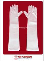 ถุงมือยาว สีขาว White Long Gloves