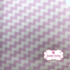 ผ้าคอตตอนไทย 100% 1/4ม.(50x55ซม.) ลายทางแบบหยัก สีชมพูพาสเทลสลับสีขาว