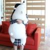 ตุ๊กตาหมีขี้เซา Sleepy bear สีขาวมาชเมลโล่ (ใย3D)