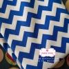 ผ้าคอตตอนไทย 100% 1/4 ม.(50x55ซม.) ลายทางแบบหยัก สีน้ำเงินขาว