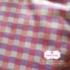 ผ้าคอตตอนไทย 100% 1/4 ม.(50x55ซม.) ลายตาราง ม่วงชมพู