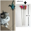 ของเล่นแมว ไม้ล่อแมวขนนก (5 ชิ้น/แพ็ค)