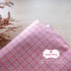 ผ้าทอญี่ปุ่น 1/4ม.(50x55ซม. โทนสีชมพู ลายตาราง