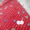 ผ้าคอตตอน 100% 1/4 ม.(50x55ซม.) พื้นสีแดง ลายการ์เด้น