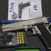 Umarex Colt Government 1911 A1 Nickel Front Firing 9mm.PAK Blank Gun