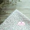 ผ้าคอตตอนไทย 100% 1/4 ม.(50x55ซม.) พื้นสีขาว ลายดอกเล็กๆสีชมพู