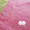 ผ้าคอตตอนไทย 100% 1/4 ม.(50x55ซม.)ลายน้องซู พื้นสีชมพู