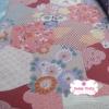 ผ้าคอตตอนไทย 100% 1/4ม.(50x55ซม.) ลายซากุระ โทนสีชมพู