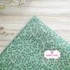 ผ้าคอตตอนไทย 100% 1/4 ม.(50x55ซม.) ลายใบไม้เล็ก โทนสีเขียว