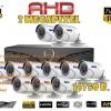 ชุดติดตั้งกล้องวงจรปิด 4IN1-001BP (2ล้าน) ir20เมตร ,11ตัว (สาย rg6มีไฟ 280เมตร, hdd.3TB)