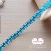 ลูกไม้แต่ง สีฟ้าเข้ม แบ่งขายเป็นหลา (90 ซม.)