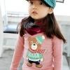 เสื้อผ้าเด็ก เสื้อยืดแขนยาว สีชมพู ไซด์ 100,110,120,130