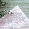 ผ้าคอตตอนไทย 100% 1/4 ม.(50x55ซม.) ลายเกล็ดปลาญี่ปุ่น สีชมพู