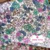 ผ้าคอตตอน 100% 1/4 ม.(50x55ซม.) ลายดอกไม้ โทนสีขาวชมพู