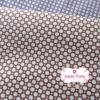 ผ้าคอตตอนไทย 100% 1/4 ม.(50x55ซม.) พื้นสีน้ำตาล ลายจุดสีขาว